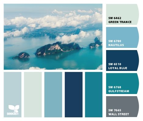 """design seeds """"Aerian Blue"""" gets Chipped!!!  Paint colors from Chip It! by Sherwin-Williams"""