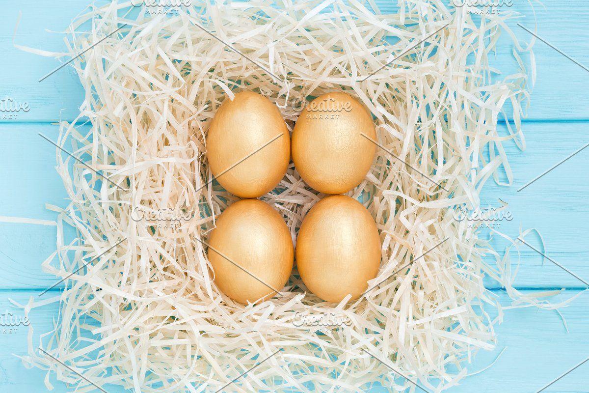 Photo of Easter golden eggs #Sponsored , #ad, #eggs#square#nest#Easter