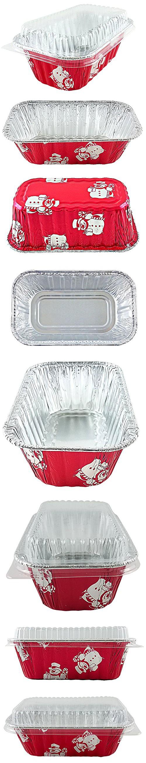 Handi Foil 1 Lb Red Aluminum Foil Mini Loaf Bread Holiday Baking