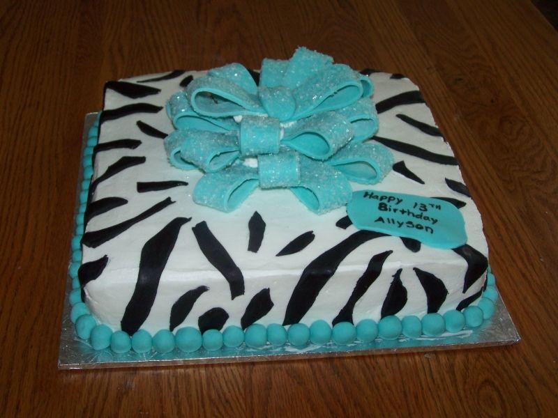 Zebra Birthday Cake Birthday Cakes Cakes Pinterest Cake