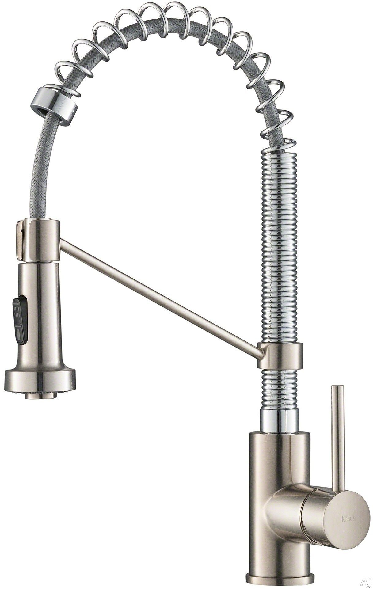 Kraus Kpf1610ss Single Handle Commercial Kitchen Faucet With 1 8 Gmp Flow Rate Reach Technology Dual Function Sprayhead 180 Degree Swivel And Ada Complaint Commercial Kitchen Faucet Kitchen Faucet Commercial Kitchen Kitchen faucet flow rate