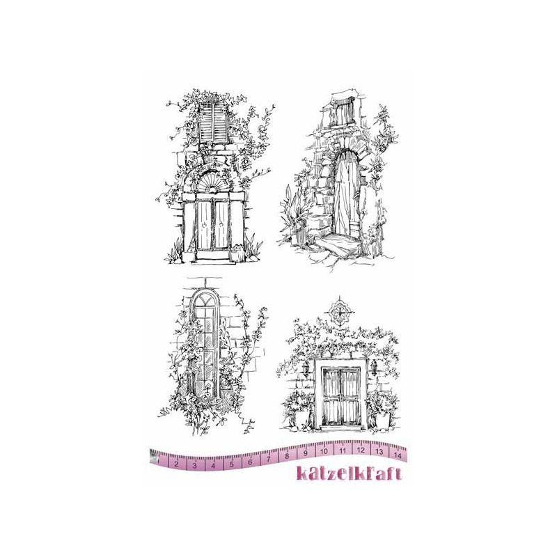 Attractive Katzelkraft   Le Portes   Doors   Unmounted Red Rubber Stamp Set (could  Make A