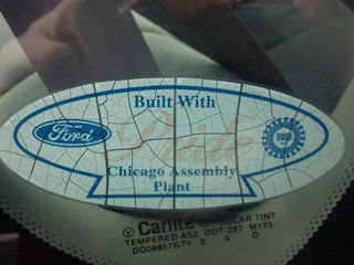 Ford Chicago Assembly Plant Sticker From The Early 2000s Usually