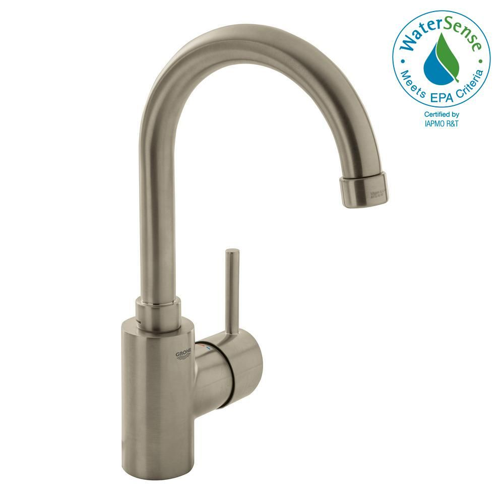 Grohe Concetto Single Hole Single Handle High Arc Bathroom Faucet In