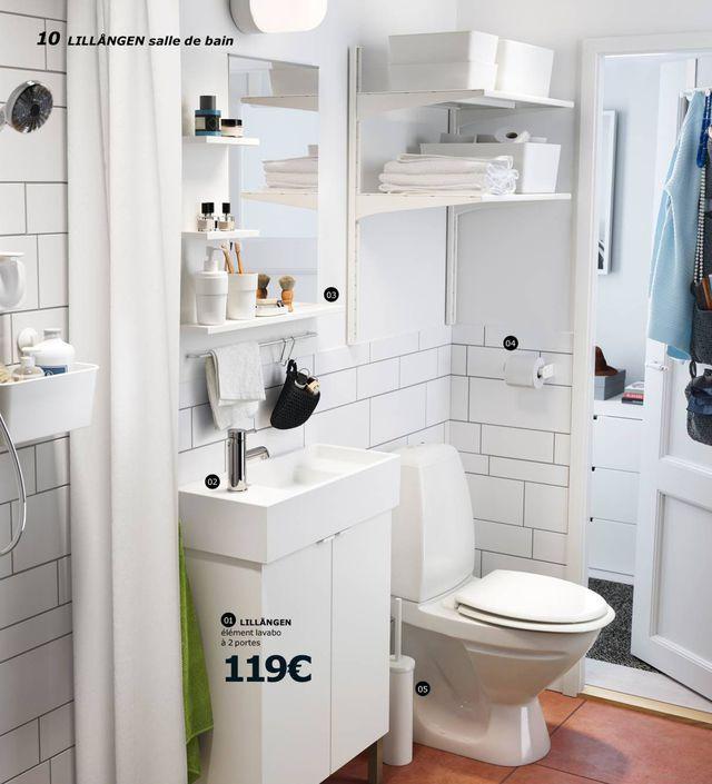 Superior Ikea Salle De Bains #14: Élément Lavabo à 2 Portes, Blanc LILLÅNGEN / TÄLLEVIKEN, Design IKEA Ofu2026