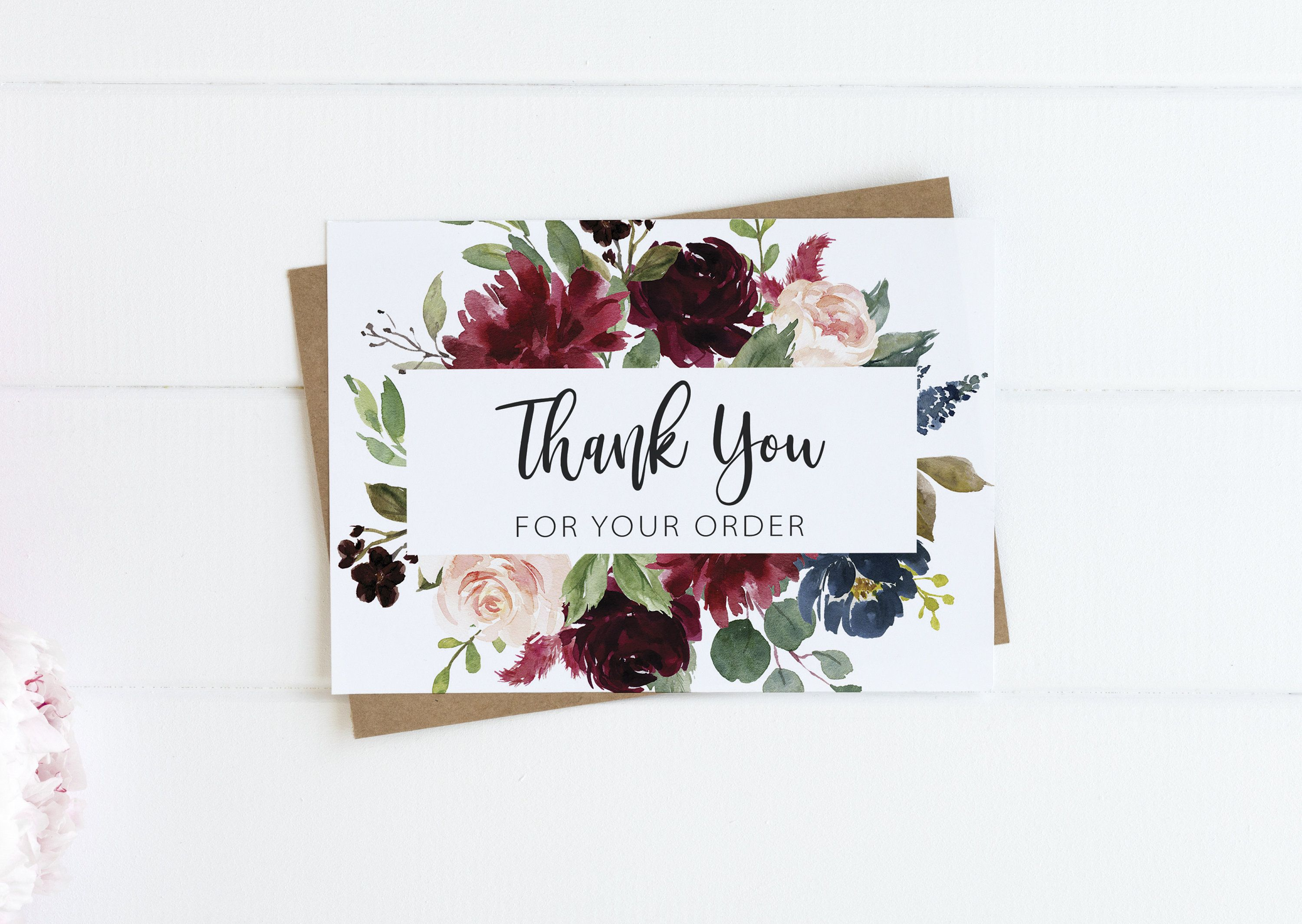 thank you for your order card review request card  etsy