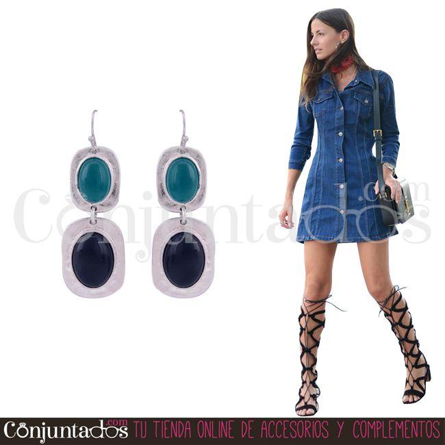 Los pendientes Janire son super combinables y perfectos para conjuntos de diario ★ 11,95 € en https://www.conjuntados.com/es/pendientes-janire-plateados-en-verde-y-azul-oscuro.html ★ #novedades #pendientes #earrings #conjuntados #conjuntada #joyitas #lowcost #jewelry #bisutería #bijoux #accesorios #complementos #moda #fashion #fashionadicct #picoftheday #outfit #estilo #style #GustosParaTodas #ParaTodosLosGustos