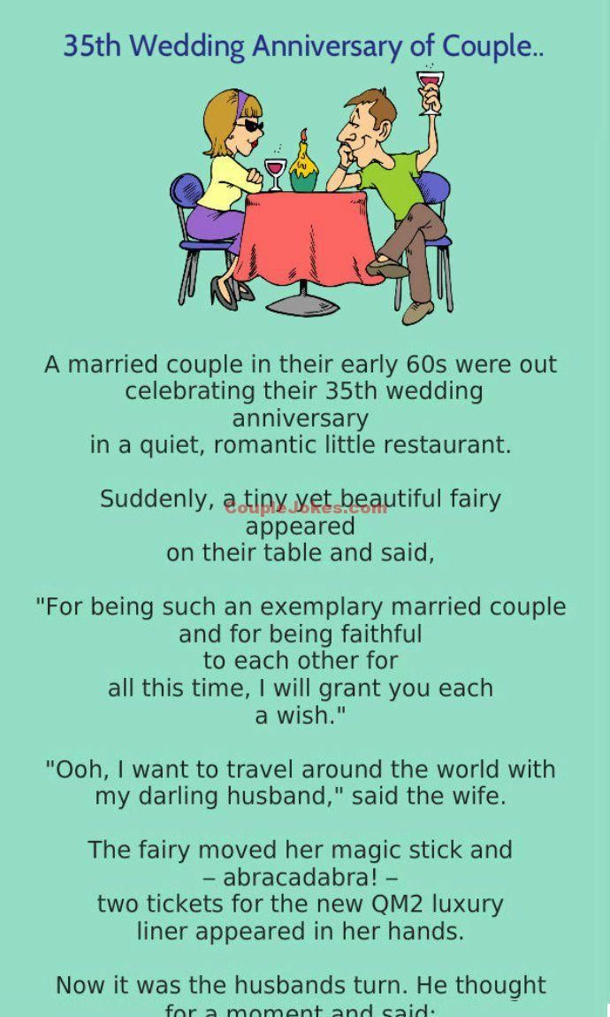 A Couple Was Celebrating 35Th Wedding Anniversary  Funny -6520