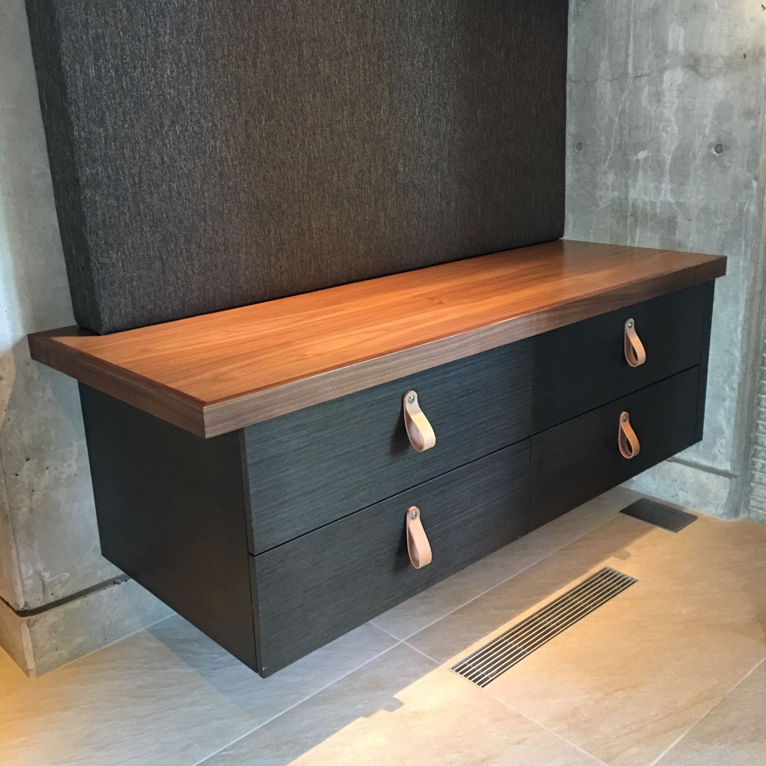 Floating Cabinets Floating Cabinets Leather Drawer Pulls