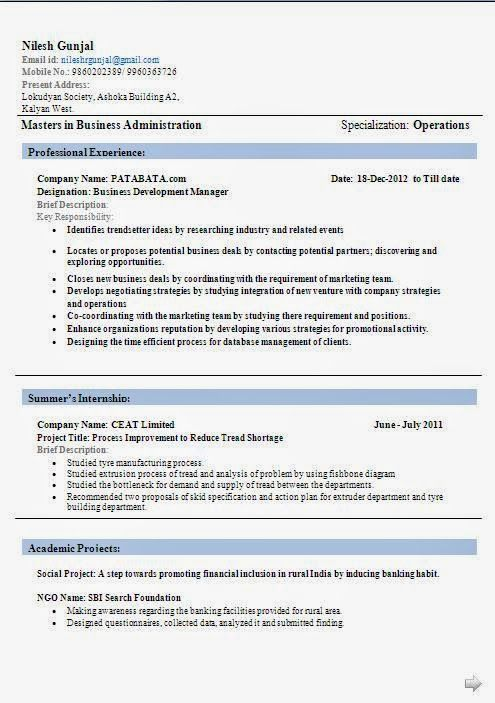 current curriculum vitae beautiful excellent professional curriculum vitae resume cv format with career objective job profile work experience for mba