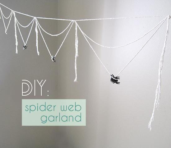 DIY Halloween  DIY Spider Web Garland  DIY Halloween Decor - spider web decoration for halloween
