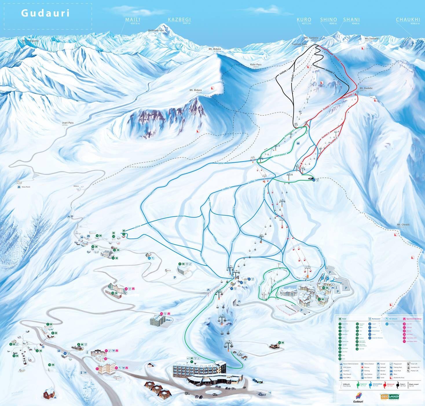 Gudauri Georgia Skiurlaub Skigebiete Reisen