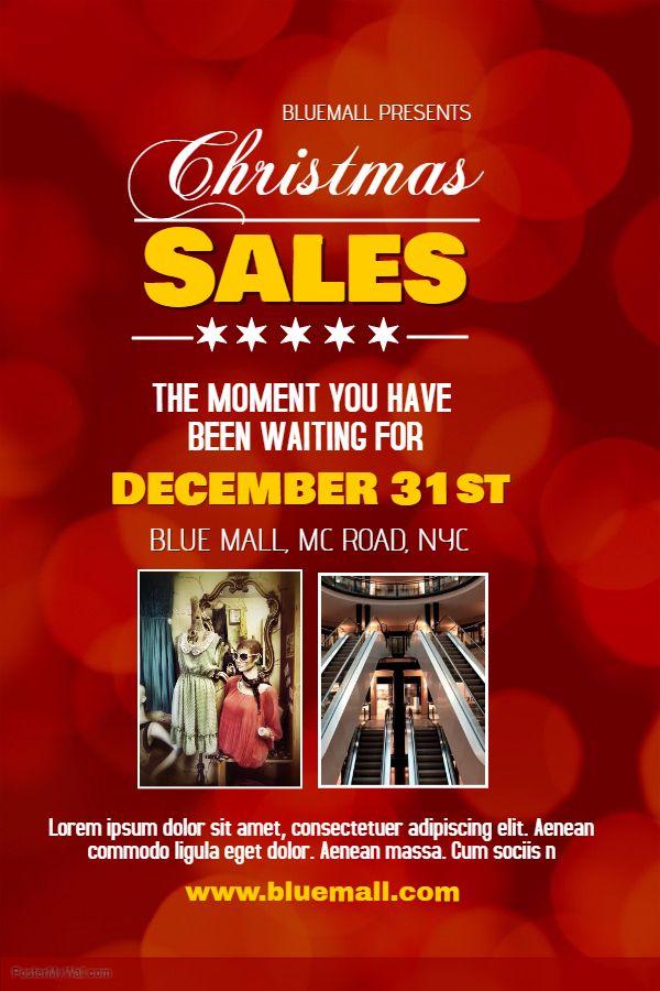 christmas sale poster template christmas retail poster templates