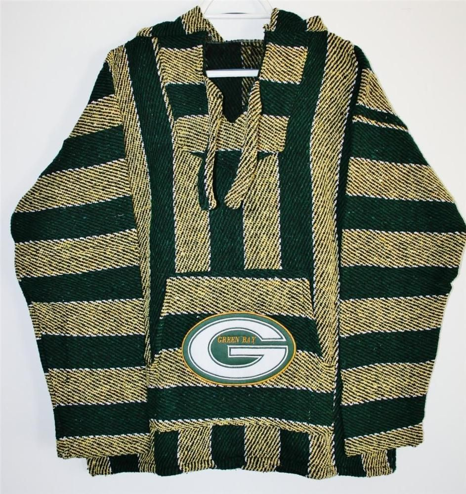 Greenbay Packers Football Nfl Hoodie Sizes S M L Xl Handmade Poncho Sarape Greenbaypack Green Bay Packers Clothing Green Bay Packers Funny Packers Football