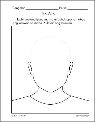 Alpabetong Filipino Worksheet For Grade 1 : Mukha 5 worksheets for my baby pinterest