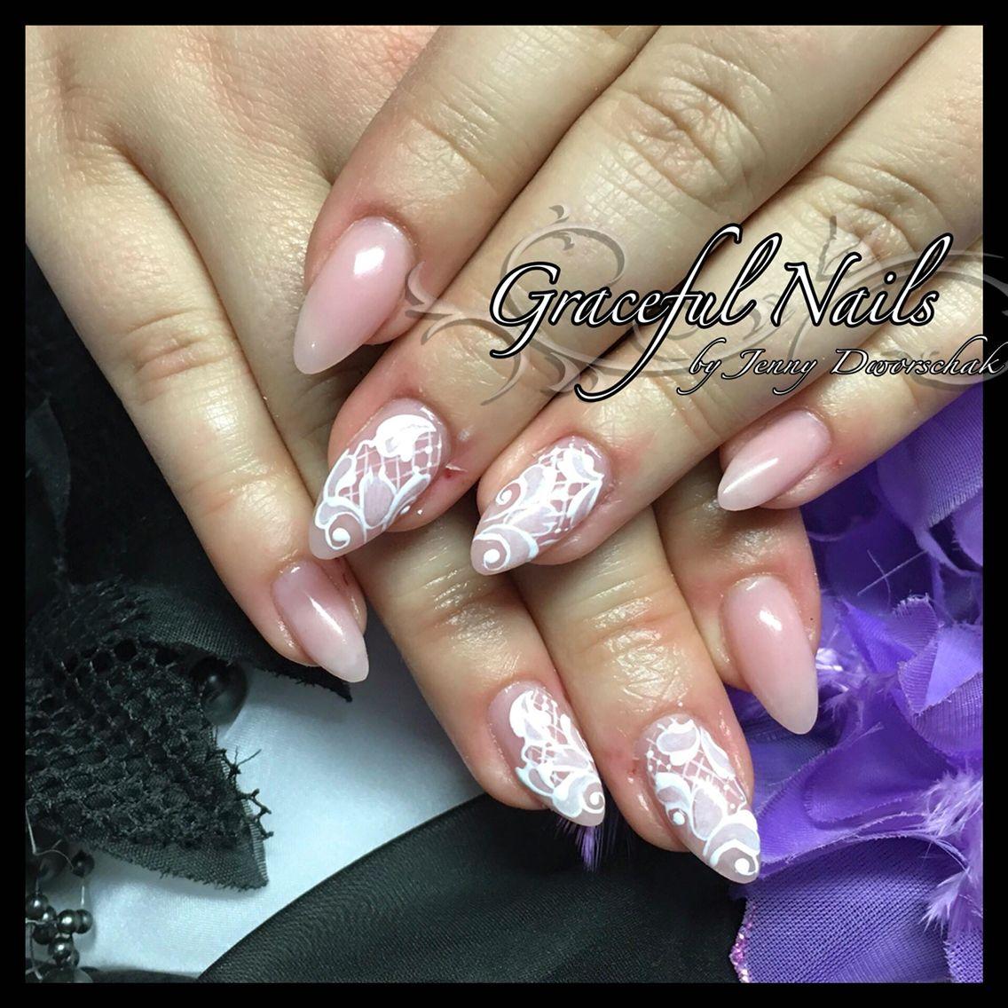 Nude Nails Naildesign elegante Gelmalerei naturell Look Acryl Nägel ...