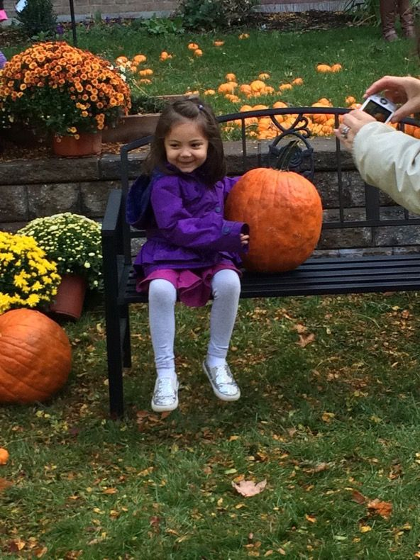 PreK kids enjoy a brisk morning at Park School's pumpkin patch. Thanks PTA @oecpta
