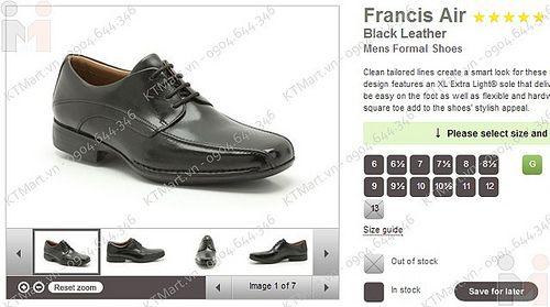 clarks francis air black
