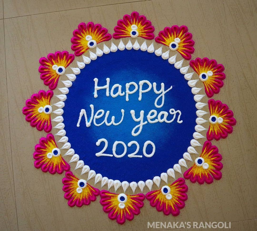 "RANGOLI💮 on Instagram ""happynewyear happynewyear2020"