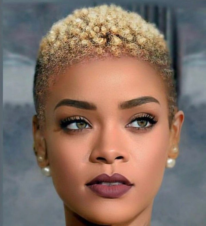 Although It S Photoshopped Rihanna Pulls It Off What Can T She Rock Natural Hair Styles For Black Women Natural Hair Styles Curly Hair Women