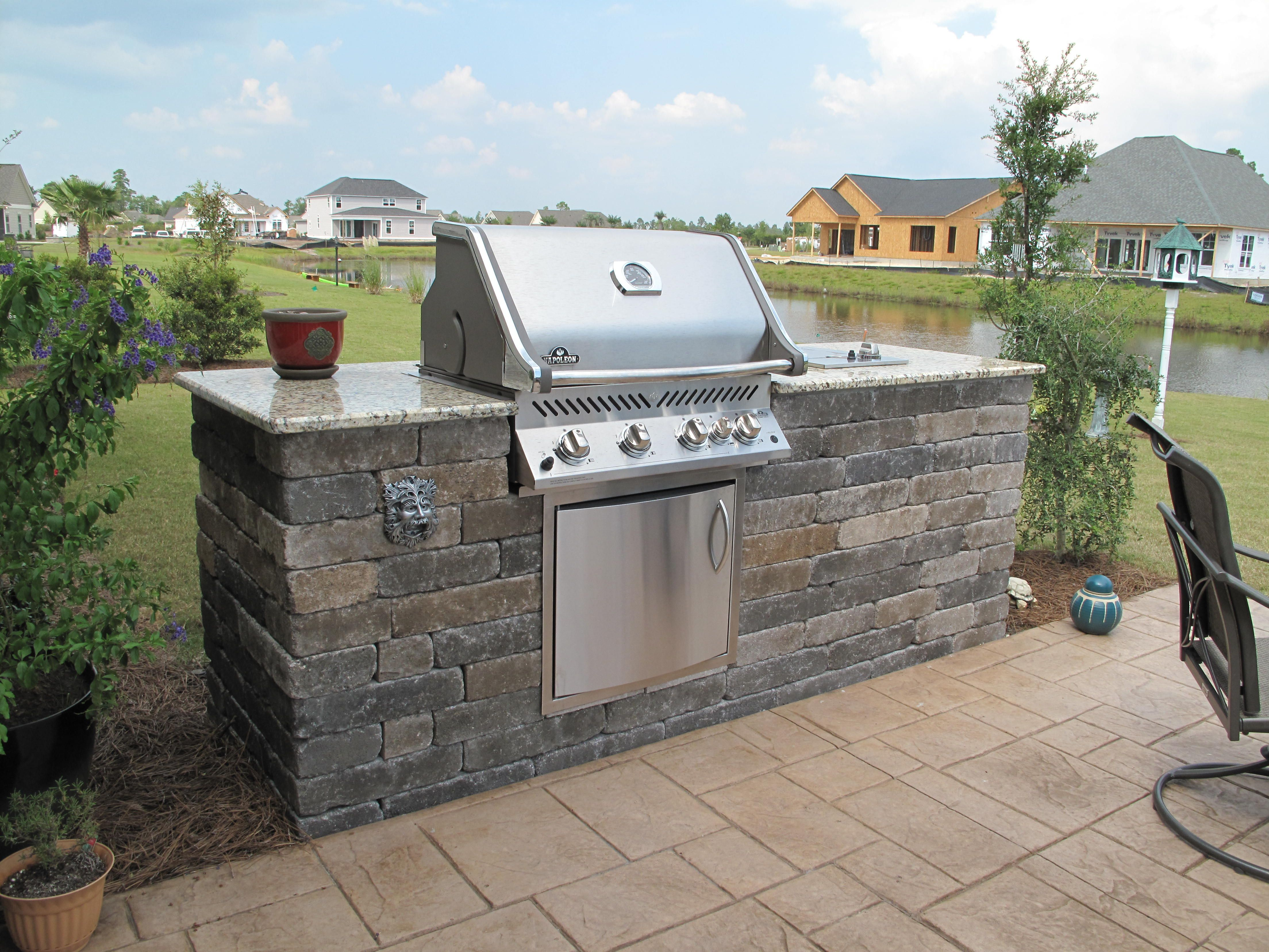 Extended outdoor BBQ island   Bbq island, Build outdoor ... on Diy Patio Grill Island id=54172