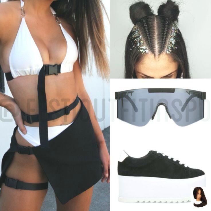 Festival Fashion, Ravewear, Festival Braids, The Lola Collection, Pit Viper, Ste... - Outfits#braids #collection #fashion #festival #lola #outfits #pit #ravewear #ste #viper
