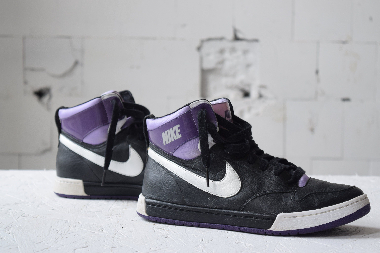 purple nike high tops womens