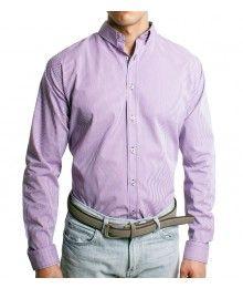 e3d2e2666bdfe Ropa para Hombres. Camisa para caballero color morado.  MensFashion ...