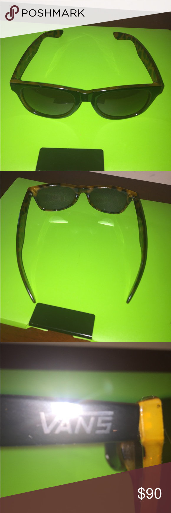 Free Vans sunglasses with a purchase over $10. Free Vans sunglasses with a purchase over $10.  Add them to your listing and you will not be charged for them.  Only 1 pair available.  1st person to add to their listing gets it.They are in average shape but still have a lot of wear left.  That is why they are free with a purchase over $10 vans Accessories Glasses