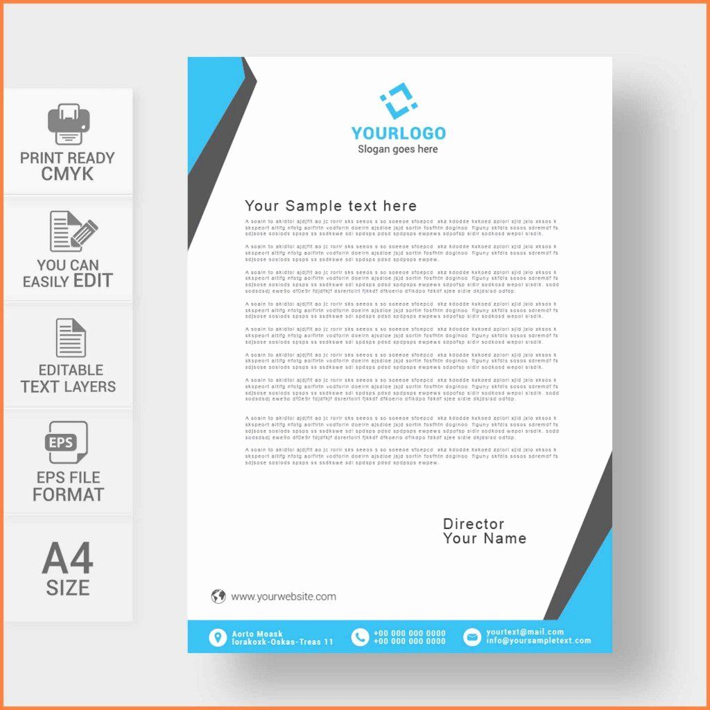 Business Letterhead Template Free Unique 009 Business Letterhead Template Free Design Letterhead Template Letterhead Template Word Company Letterhead Template
