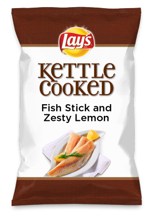 Wouldn't Fish Stick and Zesty Lemon be yummy as a chip? Lay's Do Us A Flavor is back, and the search is on for the yummiest flavor idea. Create a flavor, choose a chip and you could win $1 million! https://www.dousaflavor.com See Rules.