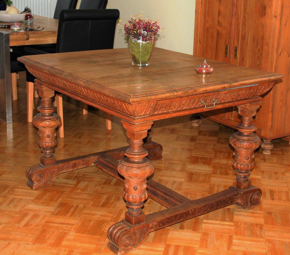 Gründerzeit Tisch antik Eiche rustikal massiv | Möbel | Pinterest ...