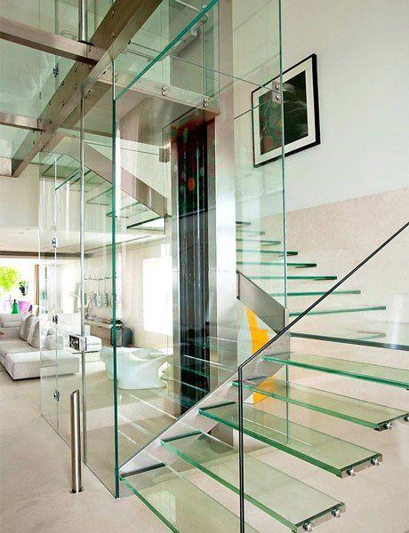 idea de escalera de vidrio u2026 Pinteresu2026 - escaleras modernas
