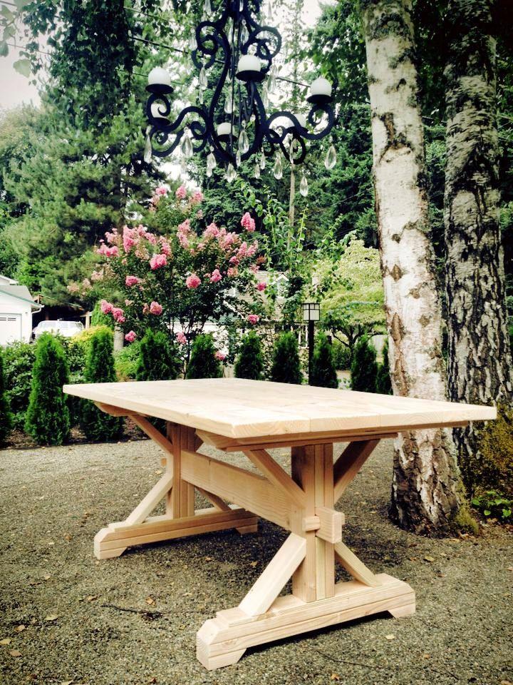 Farmhouse Trestle Table DIY Kit - made to order   tables ...