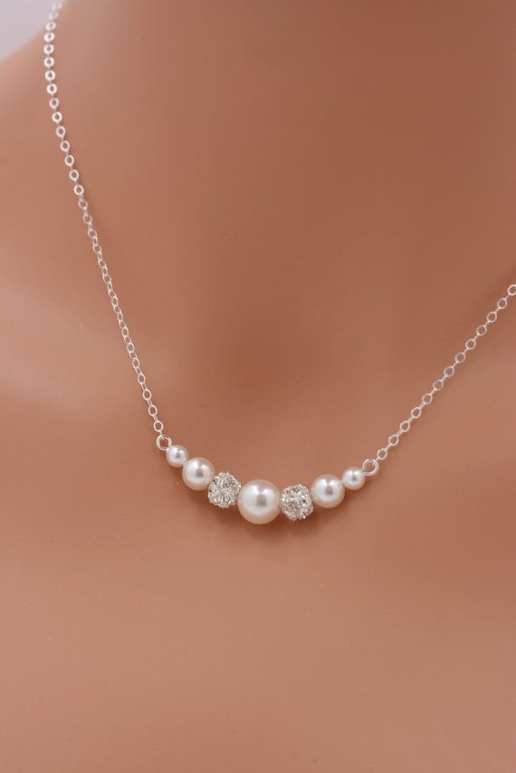 Jenna Freshwater Pearl Sterling Silver Lariat Style Leaf Necklace