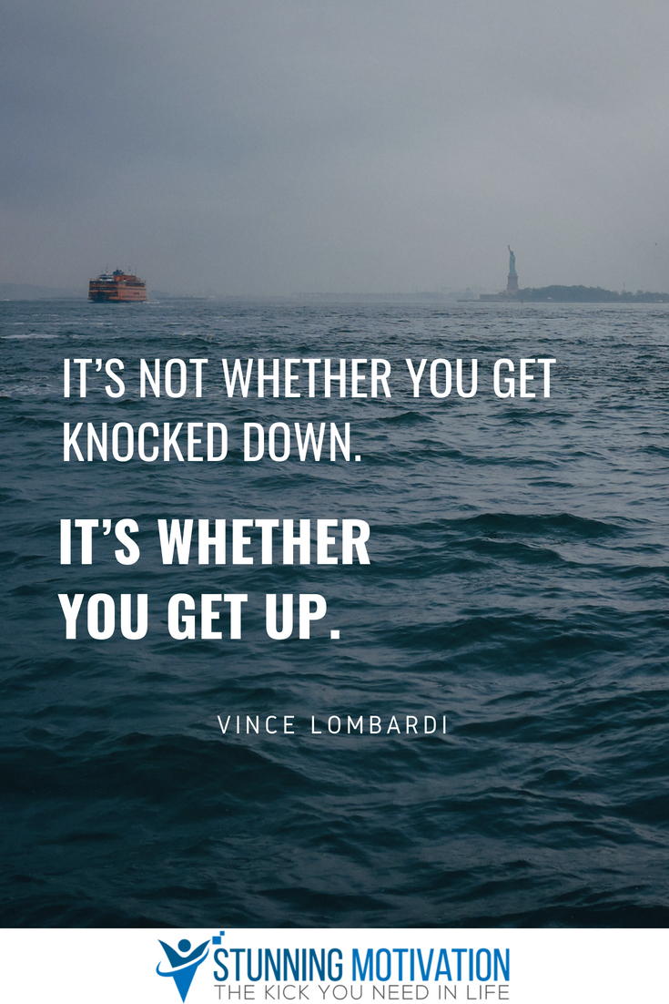 It Is Not So Much About Whether You Are Going To Get Knocked Down