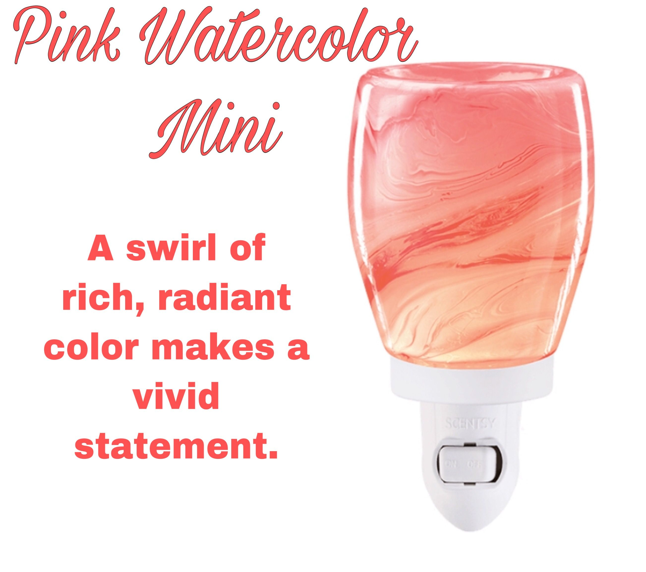 20 Pink Watercolor Mini Warmer Pink Watercolor Pink Scentsy