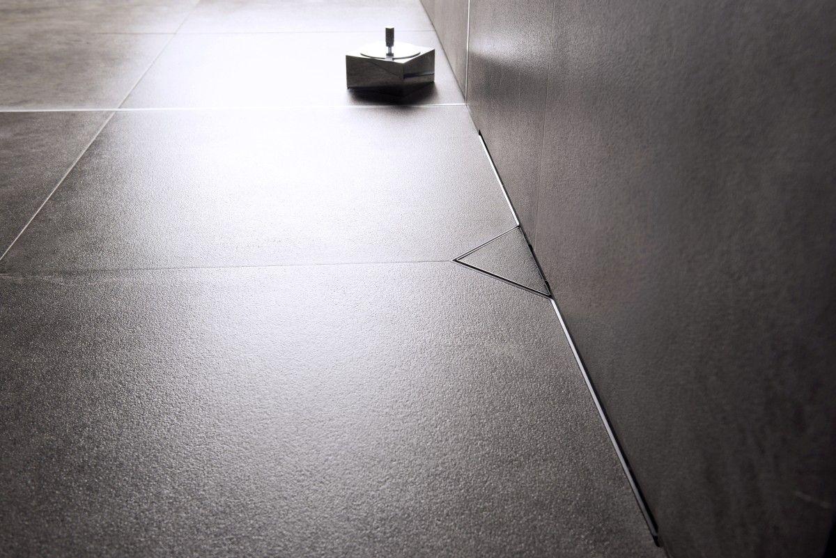 Canaleta de ducha | S-line | Cepillado acero inoxidable rejilla