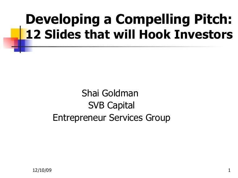 InvestorPresentationTemplate By Shai Goldman Via