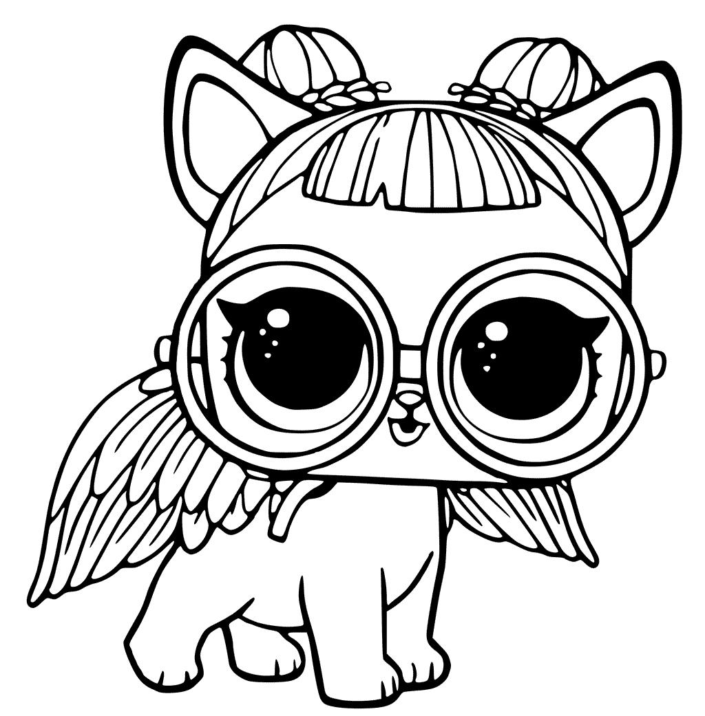 Раскраски «Куклы LOL» - «Кукла ЛОЛ питомец сахарный щенок ...