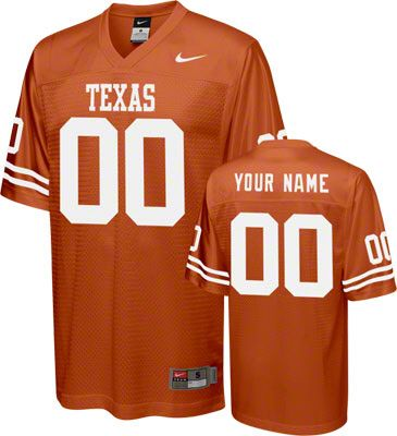 41c60b1682d4 Texas Longhorns Football Jersey  Customizable Burnt Orange Nike Football  Jersey