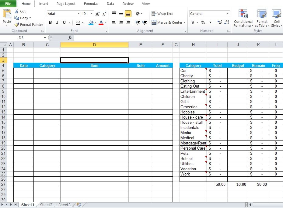 Daily Expenses Tracker Excel Template Free Download Excel - payment slip format free download