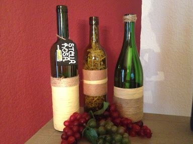 Wine Bottle Decorating Ideas Diy #wine #decor #winebottle Decorating Ideas #vino  #decor  Sab