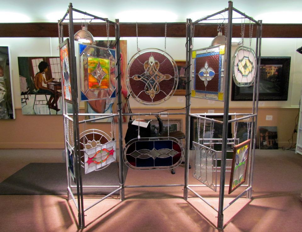 My first art show display of my stained glass . Bellevue