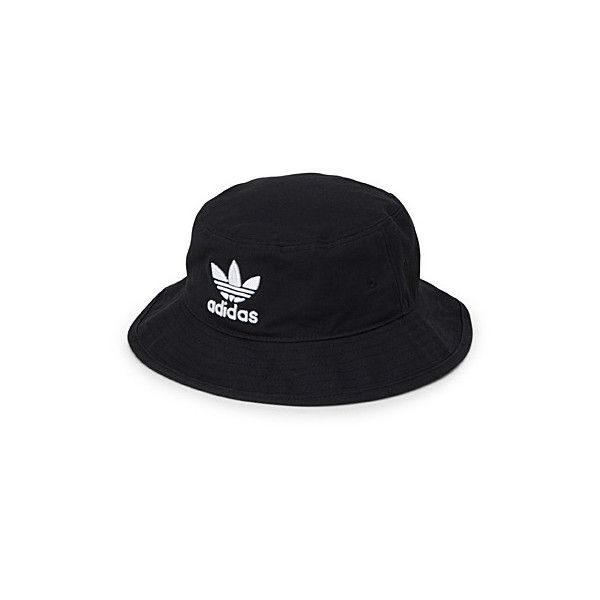 Adidas Originals Embossed logo fisherman hat ($26) ❤ liked on Polyvore featuring accessories, hats, adidas originals, fisherman hat, fishing hat, white and black hat and bucket hat