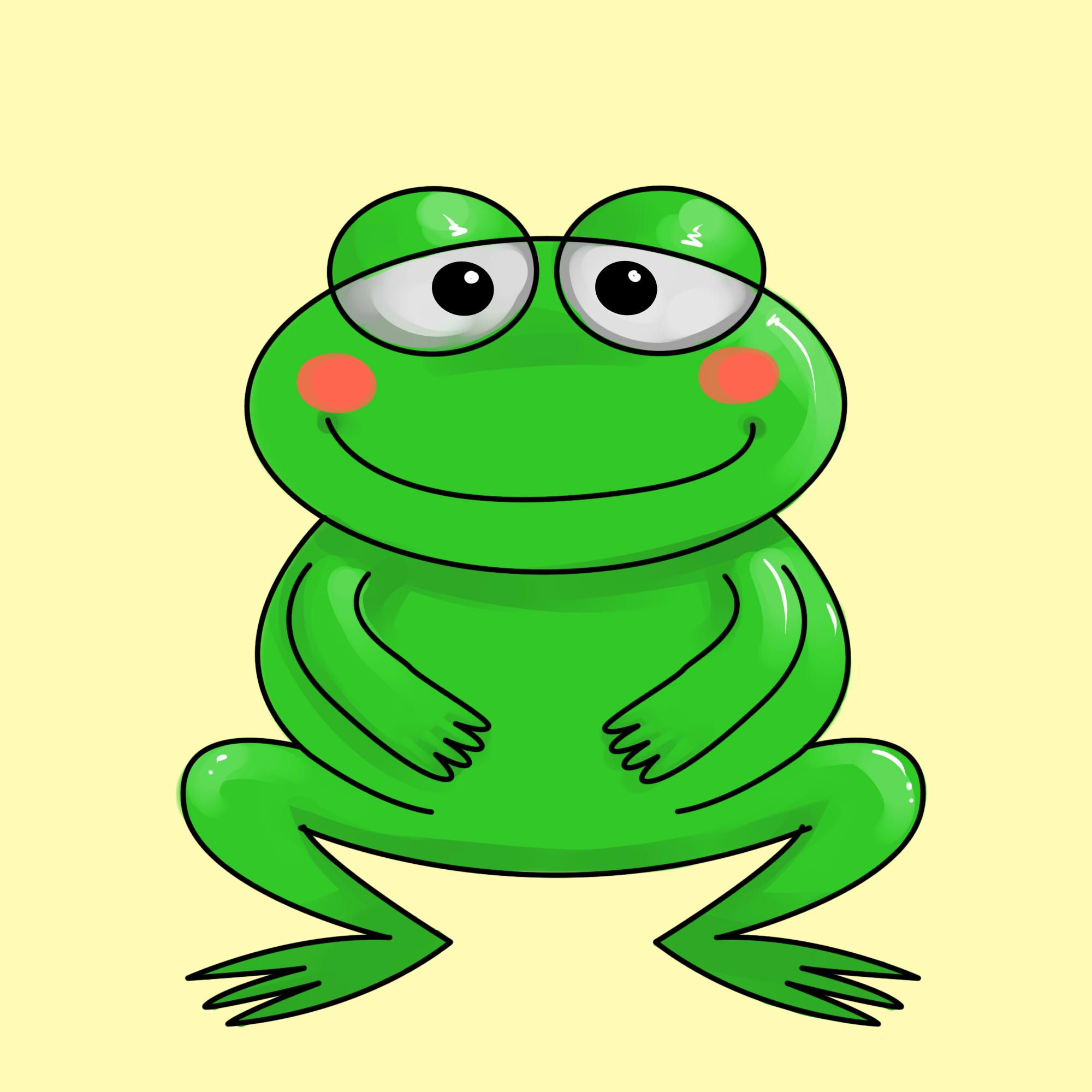 draw a cartoon frog frogs cartoon and snail