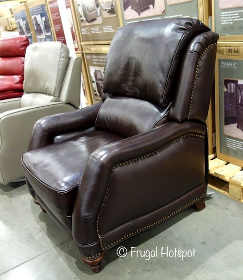 Costco Synergy Home Furnishings Leather Recliner 399 99 Frugal Hotspot