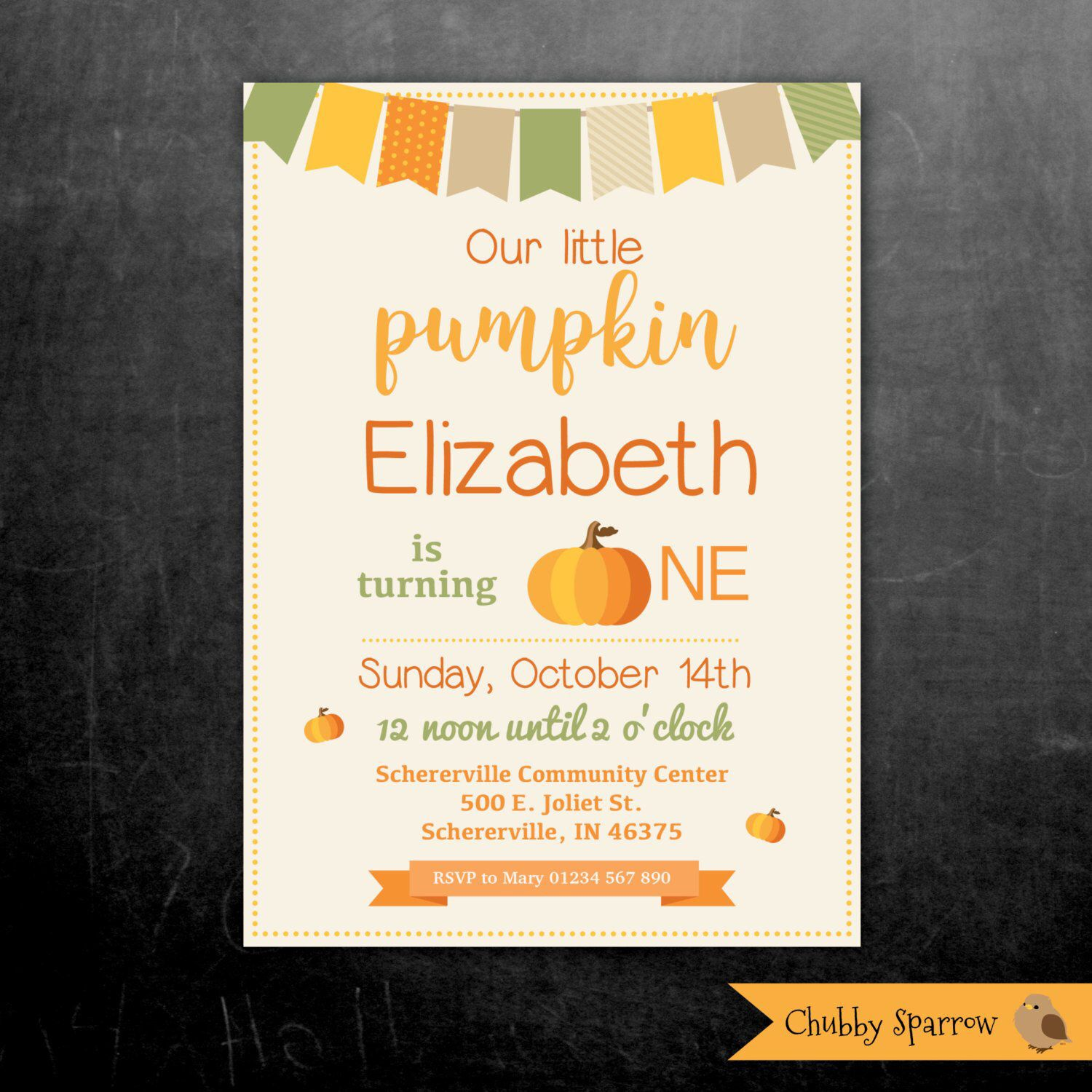 Excited To Share This Item From My Etsy Shop Pumpkin Birthday Invitation Our Little Fall Harvest Autumn October Childrens Party