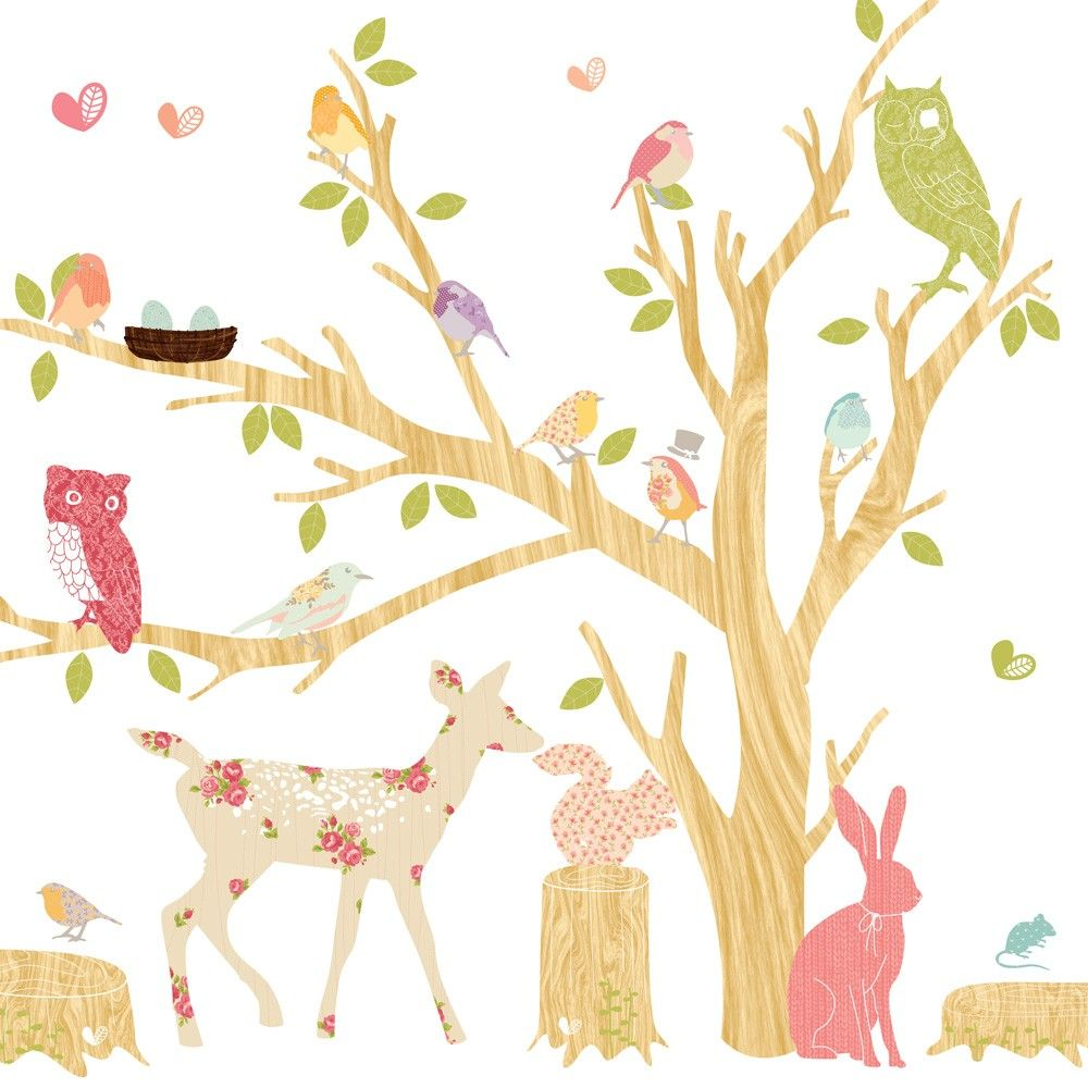 Woodland Scene – Girly from Mae click on image to purchase | Wall ...