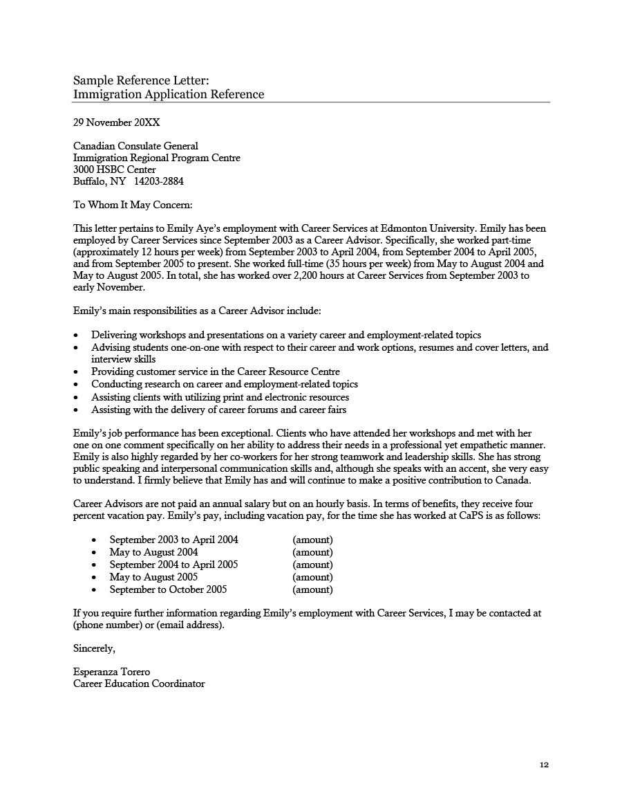 recommendation letter template for immigration new 36 free